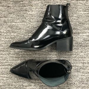 Topshop Shoes - TOPSHOP black patent leather booties